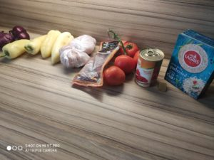 Džambalája - připravené ingredience